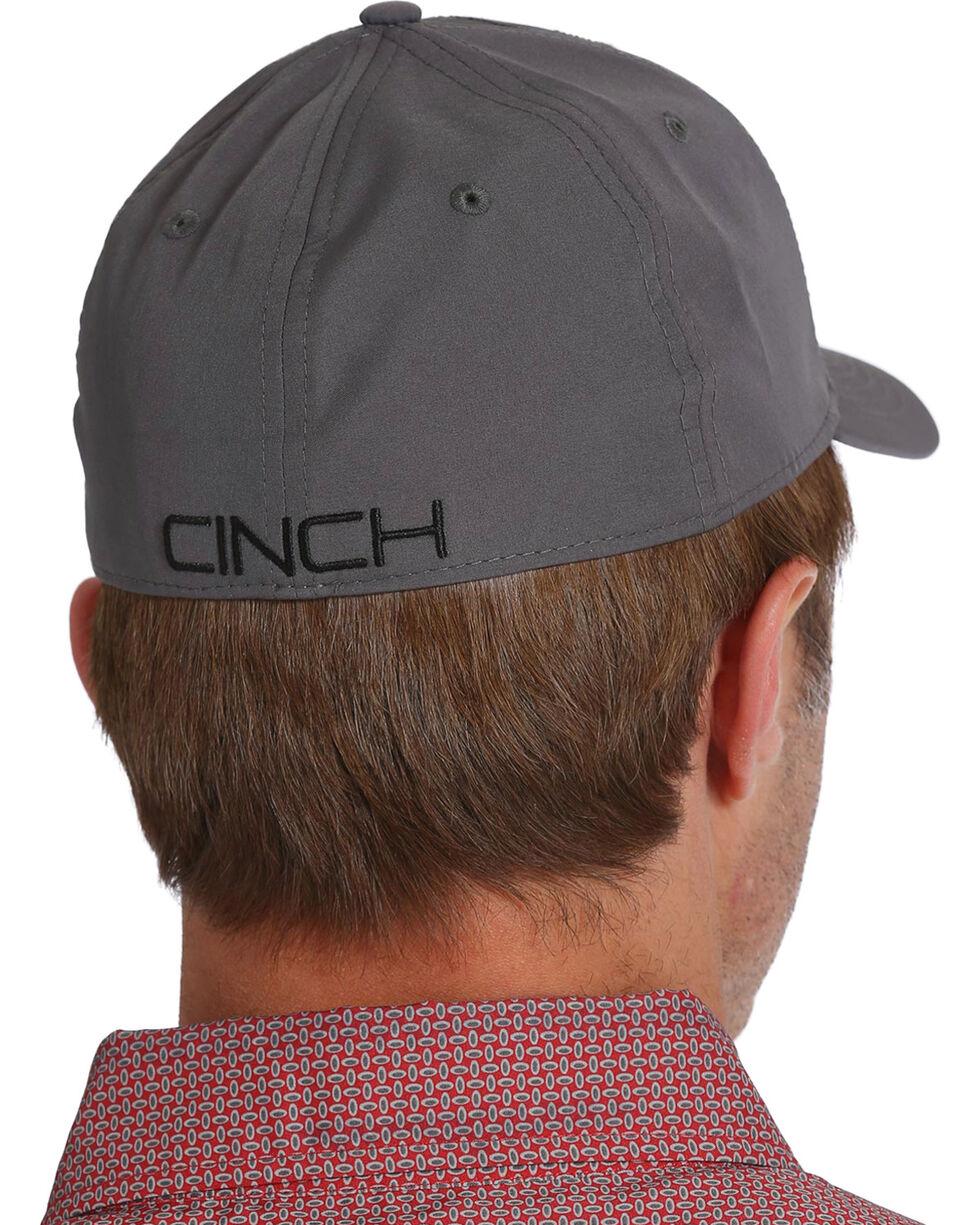 Cinch Men's Logo Ripstop Baseball Cap, Grey, hi-res