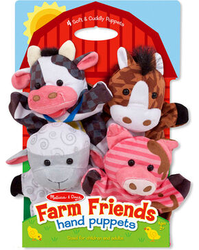 Melissa & Doug Kids' Farm Friends Hand Puppets, No Color, hi-res