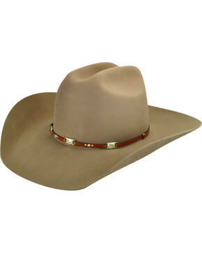 Bailey Men's Jericho 3X Wool Felt Cowboy Hat, Tan, hi-res