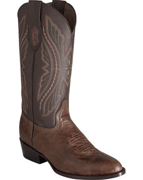 Ferrini Men's Brown Kangaroo Western Boots - Round Toe, Chocolate, hi-res