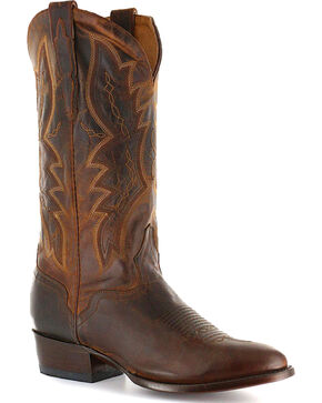 El Dorado Men's Distressed Goat Western Boots, Brown, hi-res