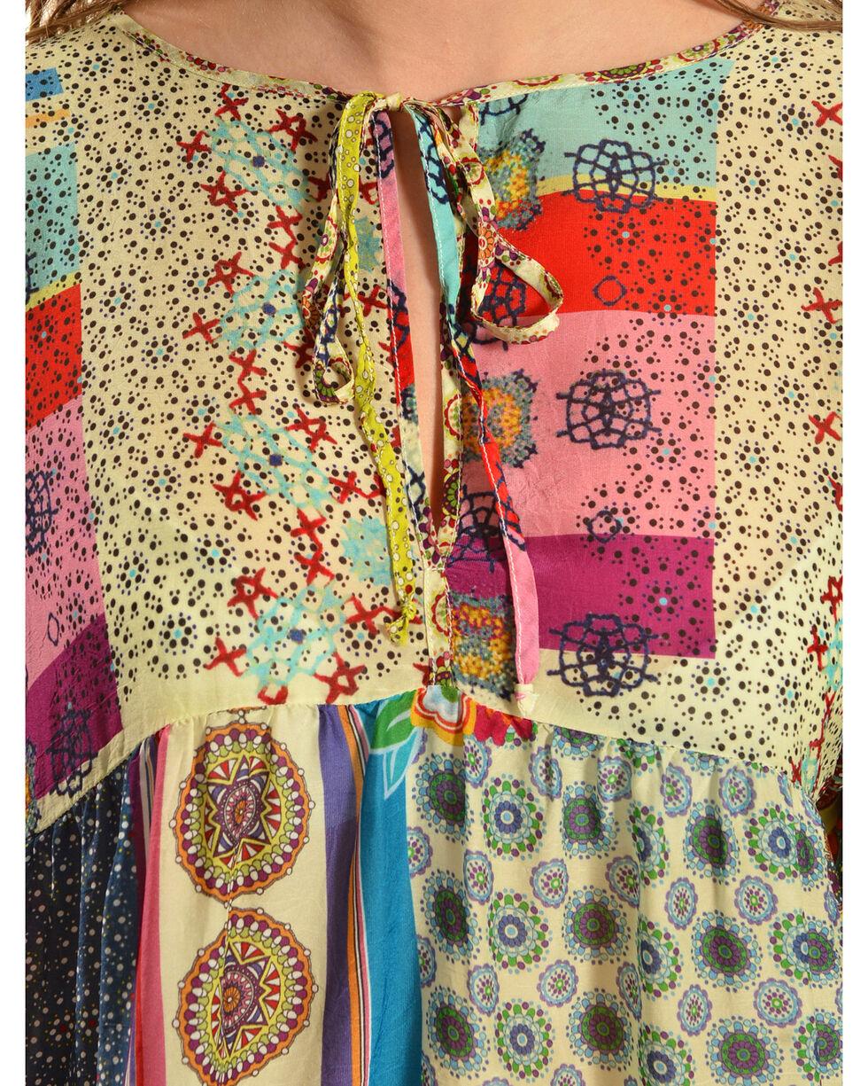 Johnny Was Women's Brightwood Neck Tie Top, Print, hi-res