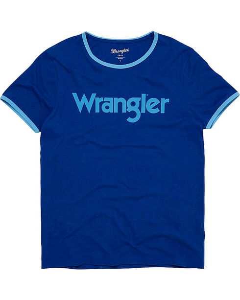 Wrangler Men's 70th Anniversary Kabel Logo Ringer Tee , Blue, hi-res