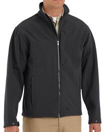 Red Kap Men's Black Soft Shell Jacket , , hi-res
