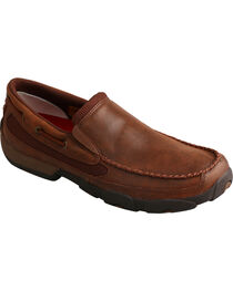 Twisted X Men's Brown Slip-On Driving Mocs , , hi-res