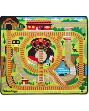 Melissa & Doug Kids' Round the Rails Train Rug , No Color, hi-res