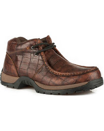 Roper Men's Brown American Gator Print Casual Shoes , , hi-res