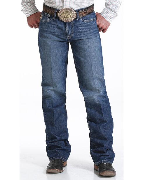 Cinch Men's Grant Relaxed Chevron Boot Cut Jeans, Indigo, hi-res
