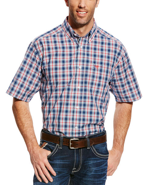 Ariat Men's Gerald Plaid Short Sleeve Shirt , Multi, hi-res