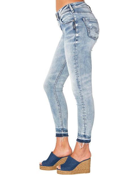 Silver Women's Indigo Avery Ankle Skinny Light Wash Jeans - Plus Size, Indigo, hi-res
