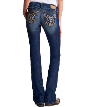 Ariat Women's Ruby Stretch Low Rise Boot Cut Jeans, Indigo, hi-res