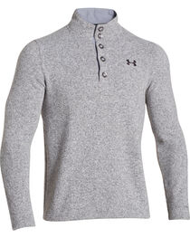 Under Armour Men's Long Sleeve Specialist Storm Sweater, Heather Grey, hi-res