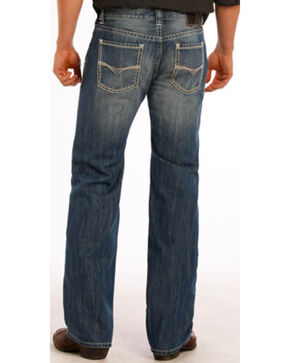 Rock and Roll Cowboy Pistol Small V Jeans - Straight Leg, Indigo, hi-res