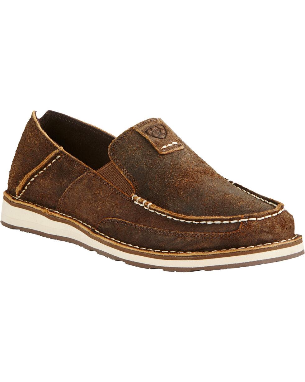 Ariat Men's Rough Oak Slip-on Shoes, Brown, hi-res