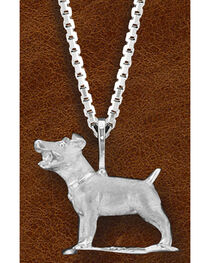 Kelly Herd Women's Sterling Silver Jack Russell Necklace, , hi-res