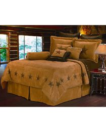 HiEnd Accents Luxury Star Queen Size Bedding Set, Tan, hi-res