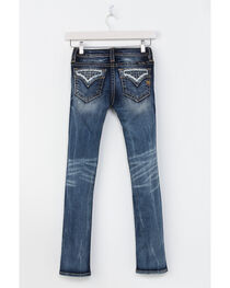 Miss Me Girls' Indigo Rogue Distressed Pocket Jeans - Skinny , , hi-res