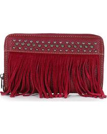 Shyanne Women's Studded Fringe Wallet, , hi-res