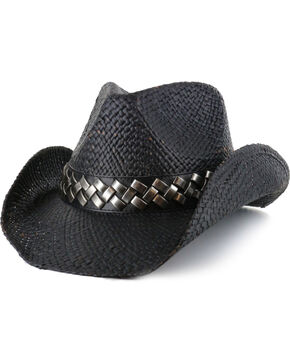 Cody James® Tough Edge Straw Hat, Black, hi-res