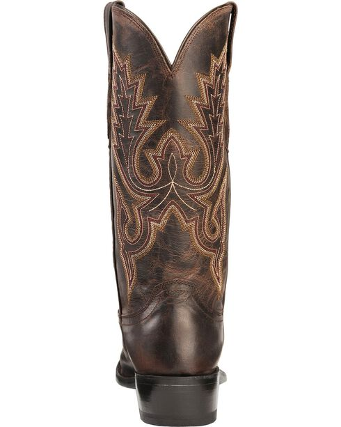 Lucchese Men's Embroidered Western Boots, Chocolate, hi-res