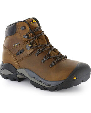 Keen Footwear Men's Cleveland Lace-Up Steel Toe Work Boots, No Color, hi-res