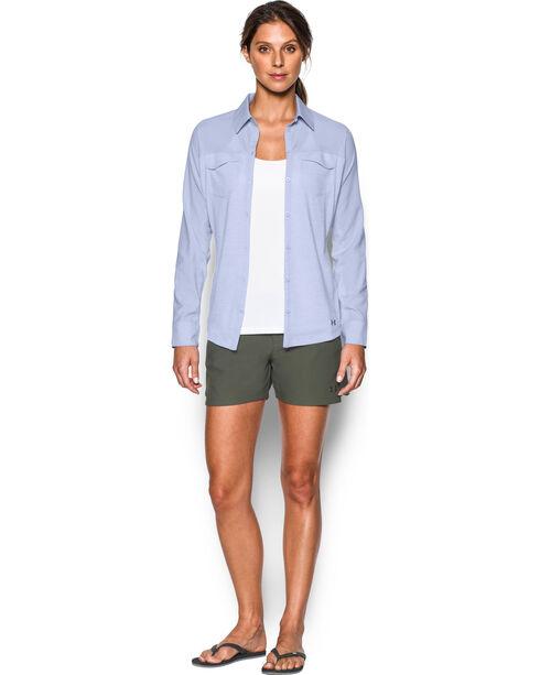 Under Armour Women's Lavender Tide Chaser Hybrid Shirt, Lavender, hi-res
