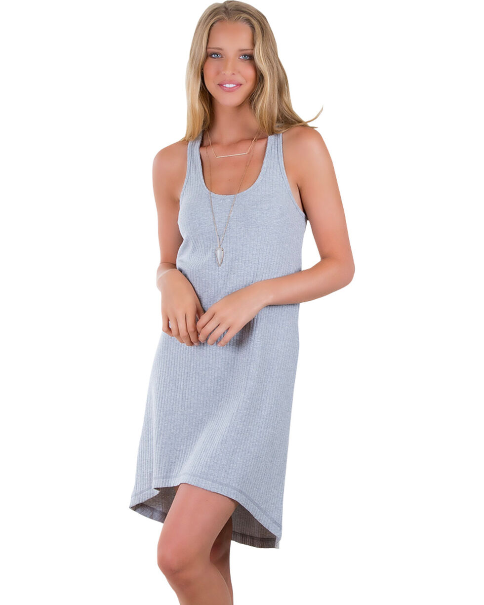 Others Follow Women's Walk With Me Grey Tank Dress , Grey, hi-res