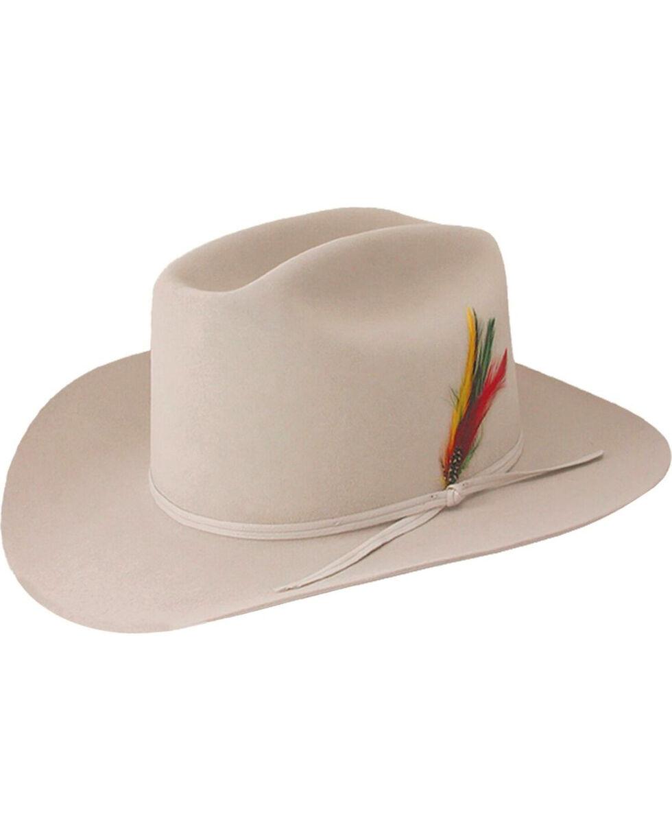 Stetson Men's Silverbelly Classic Collection Range 6X Felt Hat , Silver, hi-res