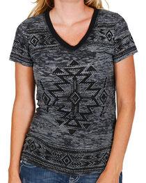 Vocal Women's Aztec Burnout Short Sleeve Tee, , hi-res