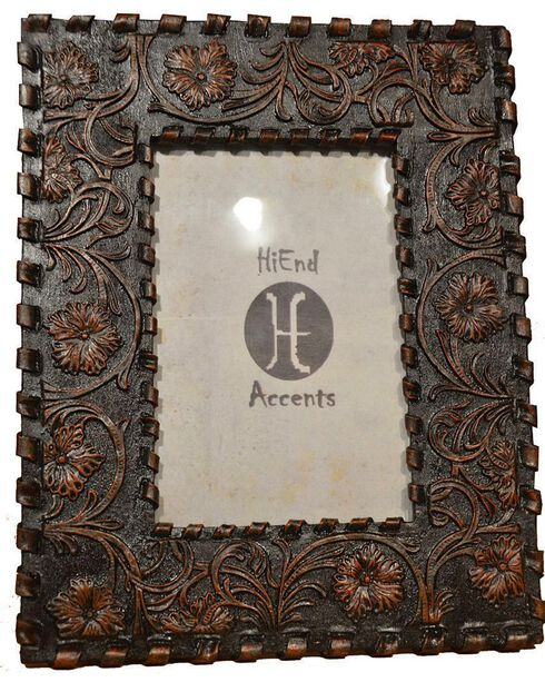 HiEnd Accents Tooled Leather Picture Frame, Multi, hi-res