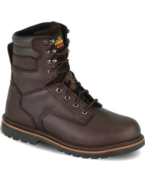 "Thorogood Men's V-Series 8"" Work Boot - Steel Toe, Brown, hi-res"