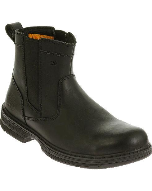 Caterpillar Men's Black Inherit Pull On Work Boots - Steel Toe , Black, hi-res