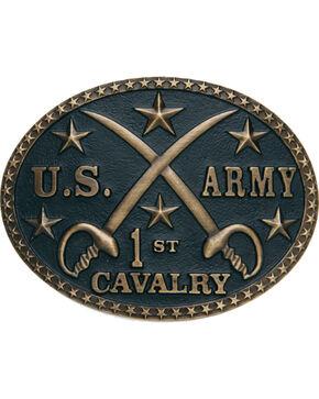 Cody James®  Men's U.S Army Cavalry Belt Buckle, Brass, hi-res