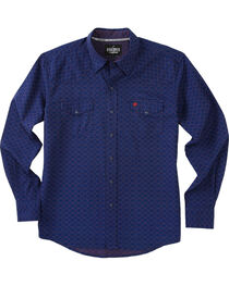 Garth Brooks Sevens by Cinch Men's Navy Pearl Snap Long Sleeve Shirt , , hi-res