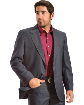 Circle S Men's Lubbock Slate Blue Suit Coat, Blue, hi-res