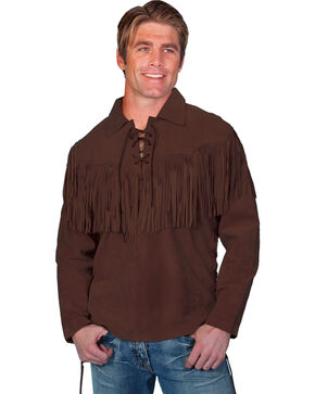 Scully Men's Mountain Man Shirt, Chocolate, hi-res