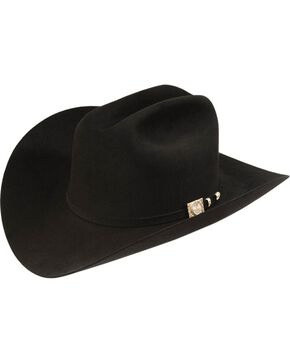 Larry Mahan Independencia 100X Fur Felt Western Hat, Black, hi-res