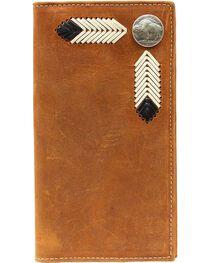 Nocona Leather Laced Buffalo Nickel Rodeo Wallet, , hi-res