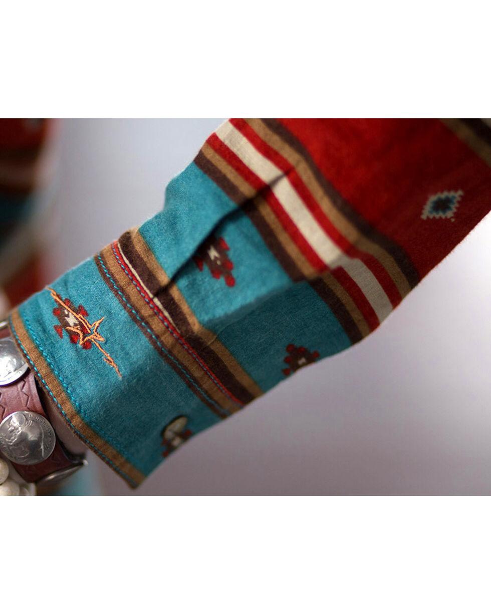 Ryan Michael Women's Serape Stripe Dress, Chili, hi-res