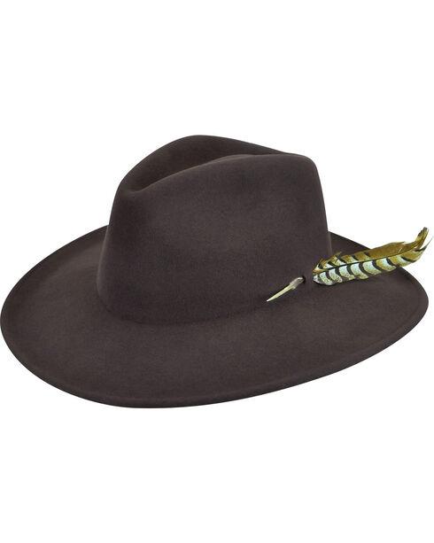 Renegade by Bailey Men's Calico Brown Felt Hat, Brown, hi-res