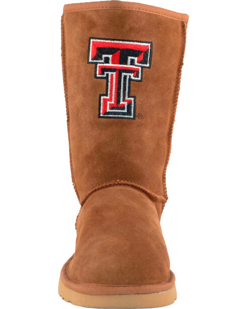 Gameday Boots Women's Texas Tech University Lambskin Boots, Tan, hi-res