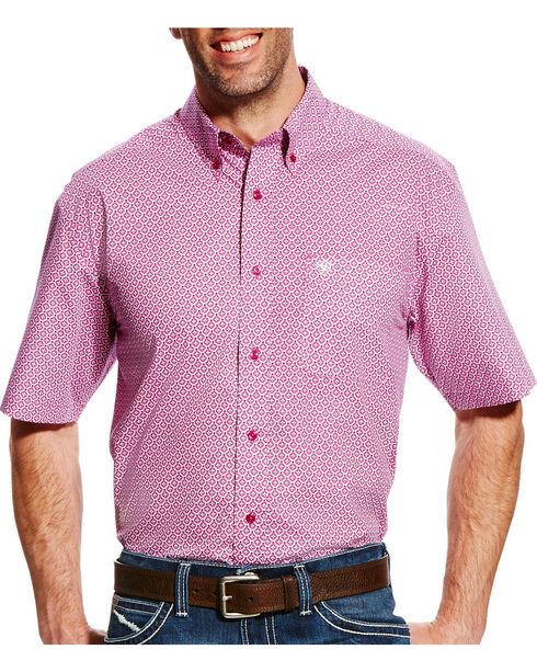 Ariat Men's Evander Short Sleeve Print Shirt - Big & Tall, Violet, hi-res