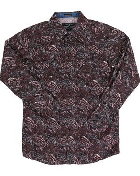 Cody James Boys' Grizzly Long Sleeve Shirt, Purple, hi-res