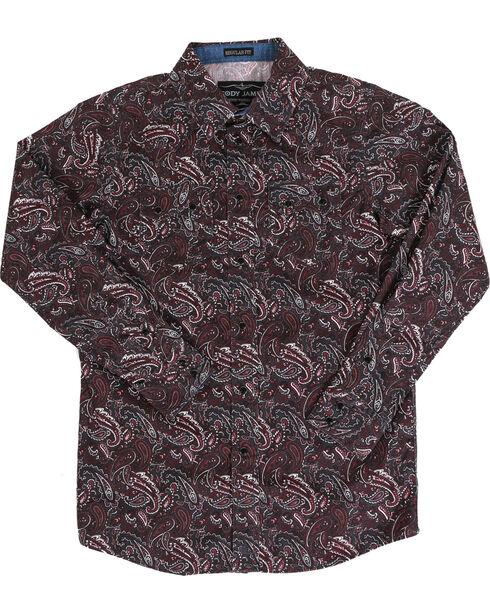 Cody James Boys' Grizzly Long Sleeve Shirt, Purple, hi-res