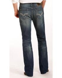 Rock & Roll Cowboy Men's Indigo Zig Zag Embroidered Jeans - Boot Cut , , hi-res