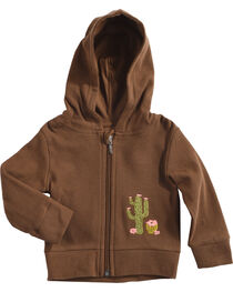 Wrangler Toddler Girls' Brown Cactus Embroidered Hoodie , , hi-res