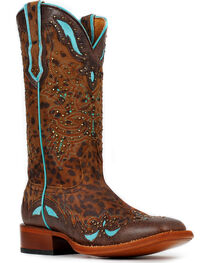 Cinch Women's Cheetah Western Boots, , hi-res