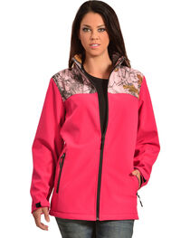 Red Ranch Pink Bonded Jacket with Camo, , hi-res