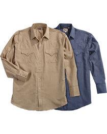 Ely Cattleman Men's Assorted Mini Check Long Sleeve Snap Shirt, , hi-res