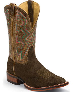 Nocona Men's Let's Rodeo Hippo Print Western Boots, Brown, hi-res